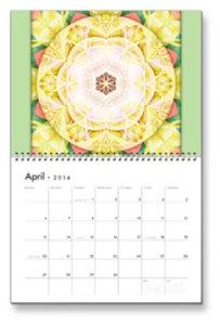 April Flower of Life Calendar