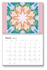 March Flower of Life Calendar