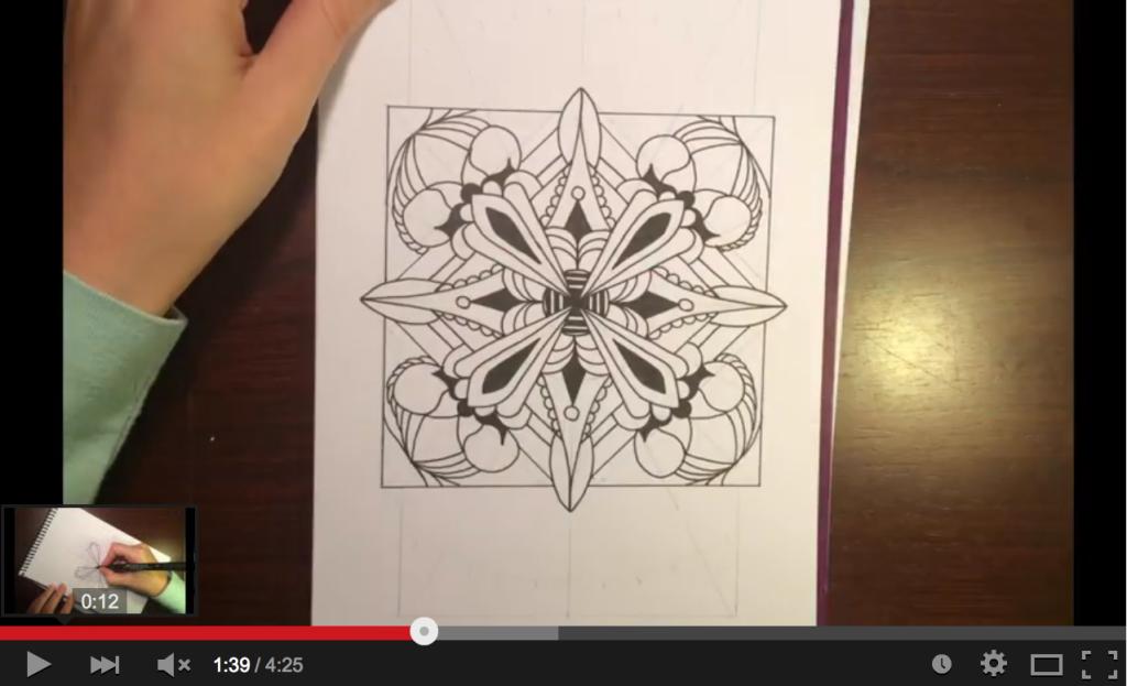 Mandala Drawing Timelapse Video by Alison Hamil Art