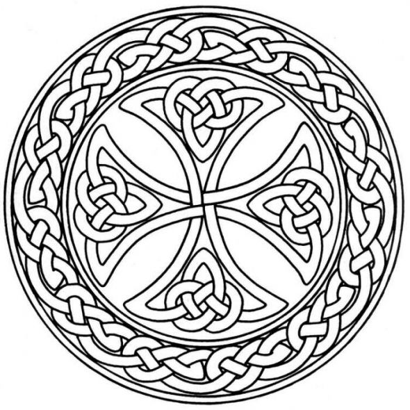 celtic cross coloring pages - mandala monday free celtic mandalas to color