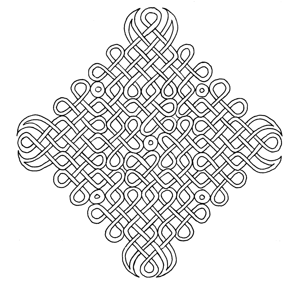 Celtic mandalas coloring pages 49 artwork by atmara new for Celtic knot mandala coloring page