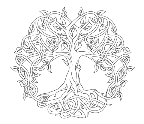 mandala monday  free celtic tree of life mandala to color, coloring pages