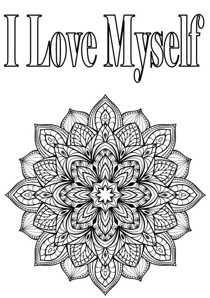 Color me happy by the letters of gratitude team for Love mandala coloring pages