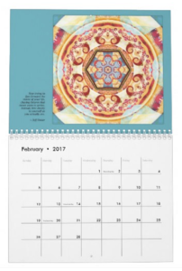 Mandalas for Times of Transition calendar Feb