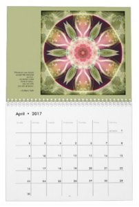 Mandalas for Times of Transition calendar April