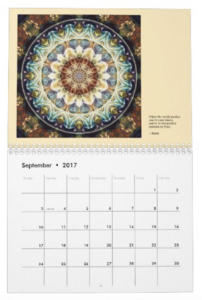 Mandalas for Times of Transition calendar Sept