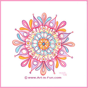 How to Draw a Mandala from art-is-fun.com