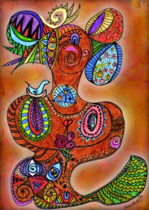 goddess of creative power-web by Sue O'Kieffe