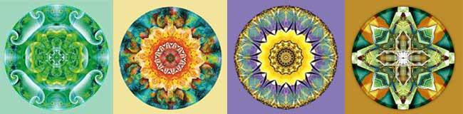 4 mandalas by Atmara Rebecca  Cloe