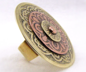 Tribal-Etched-Brass-And-Copper-Ring-Cuprum29