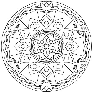 Free Printable Mandalas Coloring Pages Adults 6 300x300