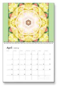 April Flower of Life Calendar