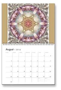 August Flower of Life Calendar