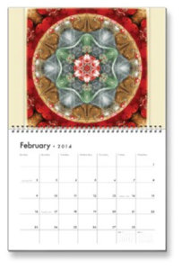 Feb. Flower of Life Calendar