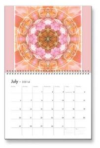 July Flower of Life Calendar