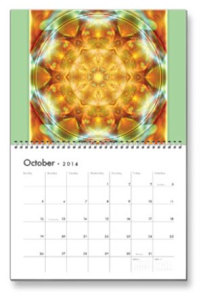 Octoberl Flower of Life Calendar