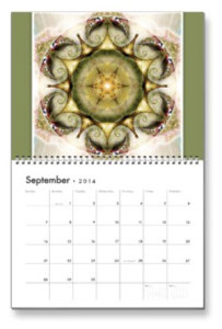 September Flower of Life Calendar
