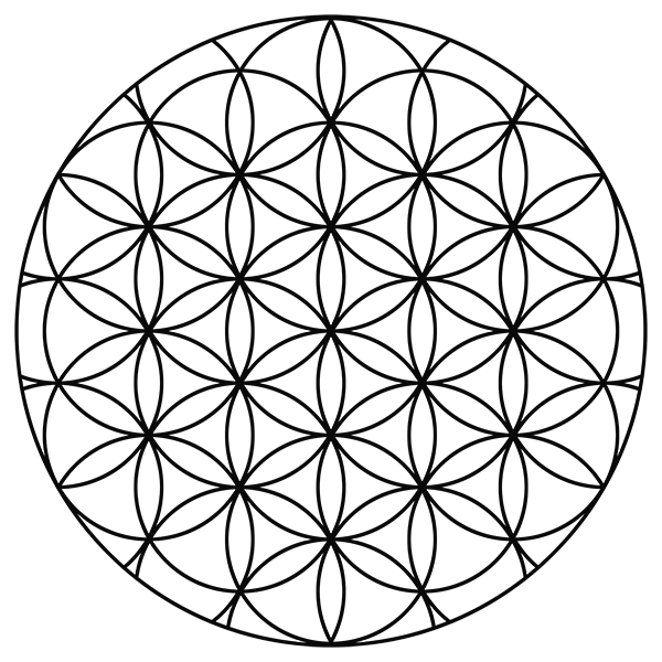 Flower Of Life Symbolism By David Weitzman on Number Coloring Pages