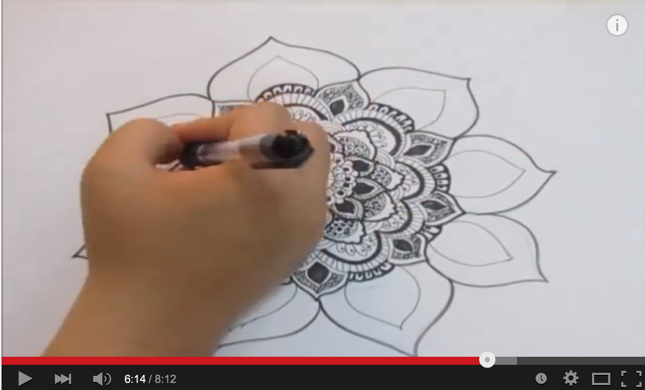 Uncategorized Videos Of Drawing 5 videos on how to hand draw a mandala from artwork by atmara the art geek