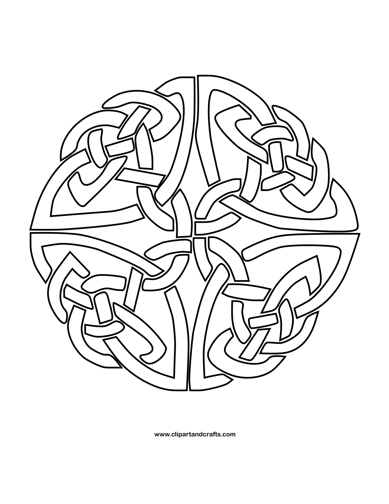 celtic knot circle artwork by atmara
