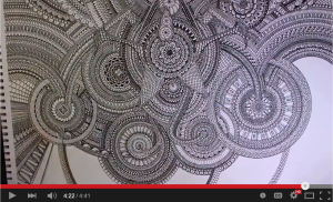 Drawing a Huge Mandala by Peter Draws