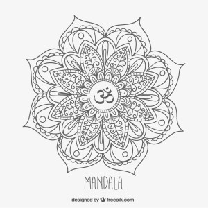Free OM Mandala to color