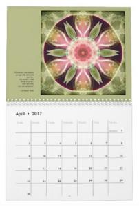 Mandalas for Times of Transition calendar April