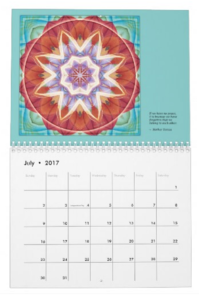Mandalas for Times of Transition calendar July