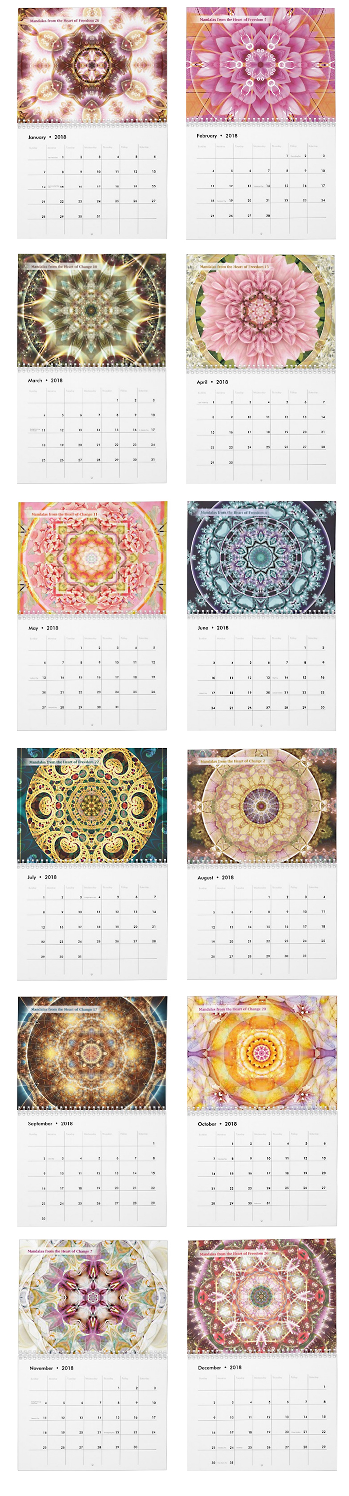 Mandala from the Heart of Freedom and Change calendar pages