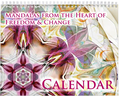 Mandalas from the Heart of Freedom and Change Calender Cover